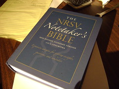 Bible Review: NRSV Notetakers Bible - outside is better