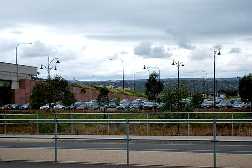 Threatening skies at the Mawson Lakes train station