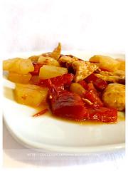 Pollo Ananas e Peperoni (gemmaausthere) Tags: ricette secondi