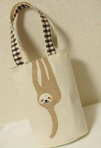 Hanging sloth handbag