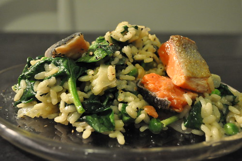 salmon risotto recipe