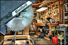 tool time (Dan Anderson.) Tags: work bench saw power time garage tools workshop tool carpentry builder workbench carpenter woodshop handyman sawdust tooltime chopsaw binford timtaylor mywinners toolcrib craftsperson dananderson
