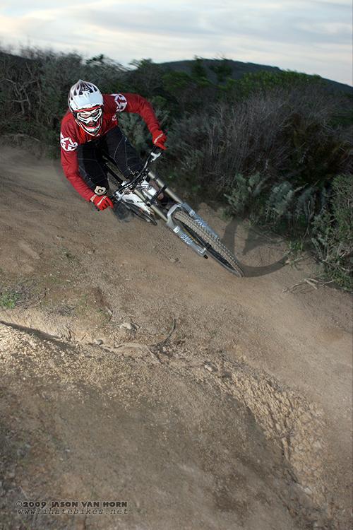 Frank rails a turn on the Mile. Photo: Jason Van Horn