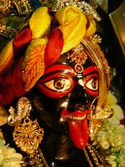 Kali dressed as Krishna (halley85) Tags: india art history temple god kali religion goddess festivals culture krishna hindu bengal deity calcutta halleys