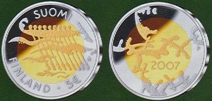 5 Euro Fínsko 2007