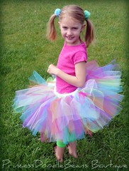 Turn around (PrincessDoodleBeans Boutique) Tags: party color cute girl smile face outside model backyard colorful child sweet handmade michigan boutique barefoot punch etsy pigtails custom tulle tutu tutus poofy princessdoodlebeans