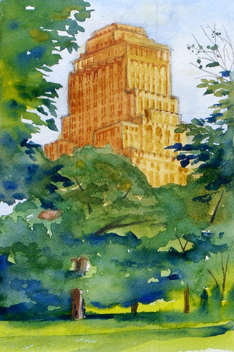 Watercolor Sketch :: Chase Park Plaza Hotel
