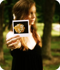 Here.... (::cyndi::) Tags: yellow daisies polaroid sweet mandi oneword explored shuttersisters