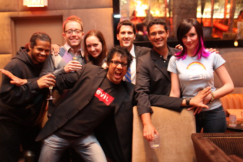 Bill, MG, Courtenay, Oz, Brett, Jacob & Jolie - TechSet InternetWeek 2009 After Party
