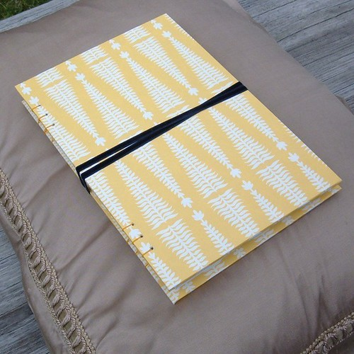 Notebook Made with Smock Gift Wrap