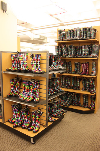 Hmm are dotted boots in or out? The amount in stock says OUT!