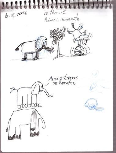 Mi memoria en dibujos 27 (E, Elefante)