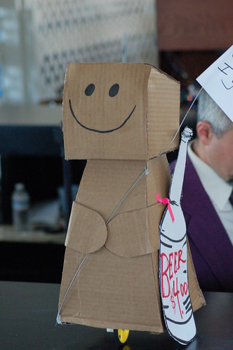 The happiest robot at the event