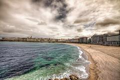 Beach – Playa de Riazor, La Coruña HDR