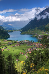 Lungern, Switzerland (**Anik Messier**) Tags: lake mountains vertical landscape switzerland suisse lac valley hdr montagnes swissalps valle lungern obwalden mywinners anawesomeshot lungerersee brnigpass theperfectphotographer sarneraavalley cantonofobwalden