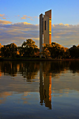 National Carillion (peter_brock) Tags: sunset water canon reflections australia national canberra carillion reflexions hdr act peterb peterbrock 3xp photomatix 50d tonemapped tonemapping