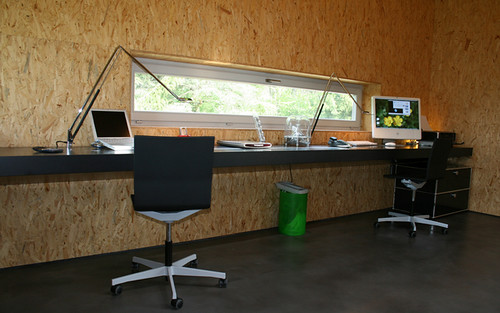 Nice Home Office Built In Desk