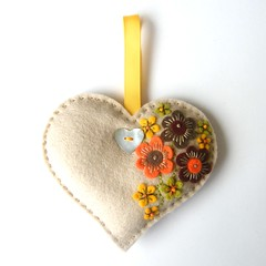 LAVENDER SACHET WITH FREEFORM EMBROIDERY (APPLIQUE-designedbyjane) Tags: heart embroidery lavender sachet freeform