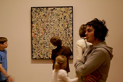 craig in front of a Pollock (cassandra sechler) Tags: pollock nymoma craigjacobson