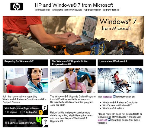 HP and Windows 7