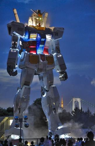 GUNDAM with Tokyo Tower & Rainbow Bridge