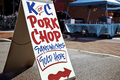Pork Chop Sandwiches (CarusoPhoto) Tags: film sign canon fuji superia sandwich negative 200 scanned porkchop caruso kofc eos1 sandwichboard 2470 porkchopsandwiches ef2470f28l johncaruso carusophoto