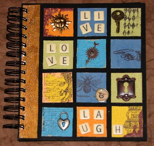 Distress Crackle Notebook 001