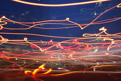 Run, photographer! Run! (Gordana AM) Tags: street city light urban ontario canada horizontal night dark lights moving movement traffic drawing trails headlights windsor class2010 lepiafgeo