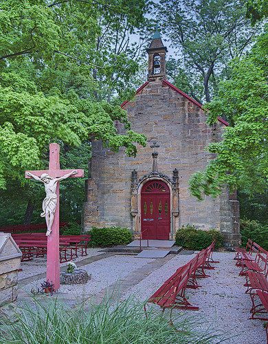 Saint Meinrad Archabbey, in Saint Meinrad, Indiana, USA - Monte Cassino Shrine - exterior