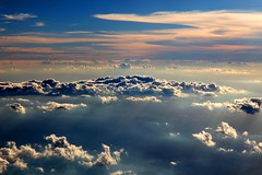 The other side of the clouds (kees straver (will be back online soon friends)) Tags: travel blue light sunset shadow red brazil sky cloud sun white southamerica water clouds canon landscape flying cielo 5d plain beams markii mywinners canoneos5dmarkii keesstraver coth5