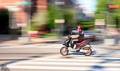 DC in Motion | Safety First (Danilo Lewis Photography) Tags: washingtondc moving columbia dcist 14thstreet moped heights panning rider columbiaheights we3dc dcinmotion