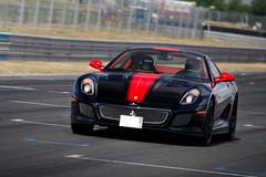 599 GTO ([ JR ]) Tags: red black france car sport race canon rouge eos one is track noir d 4 stripe bordeaux first kingdom jr ferrari collection exotic 200 arabe saudi arabia 17 gto usm 70 et circuit supercar f4 bicolor ksa 550 bande 599 aficionado xvii bicolore 550d vigeant eysines