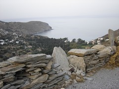 beach and village view, STENIES, Andros island (dimitra_milaiou) Tags: life above blue sea sky mountain art beach nature water stone architecture painting landscape island greek grey beige paint day village view path sony steps aegean hellas pebbles greece emotions andros cyclades dimitra hellenic dscp93a  stenies gyalia  aigaio      gialia  steniaes milaiou