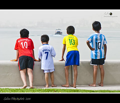 Odd One Out ! (Salim Abdulla) Tags: india children stars football fifa tshirt kerala corniche dk legends jersey kaka ronaldo doha qatar messi dohakoottam worldcup2022