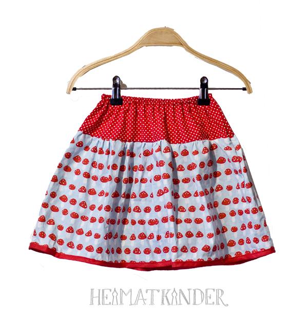 mushroom dots skirt