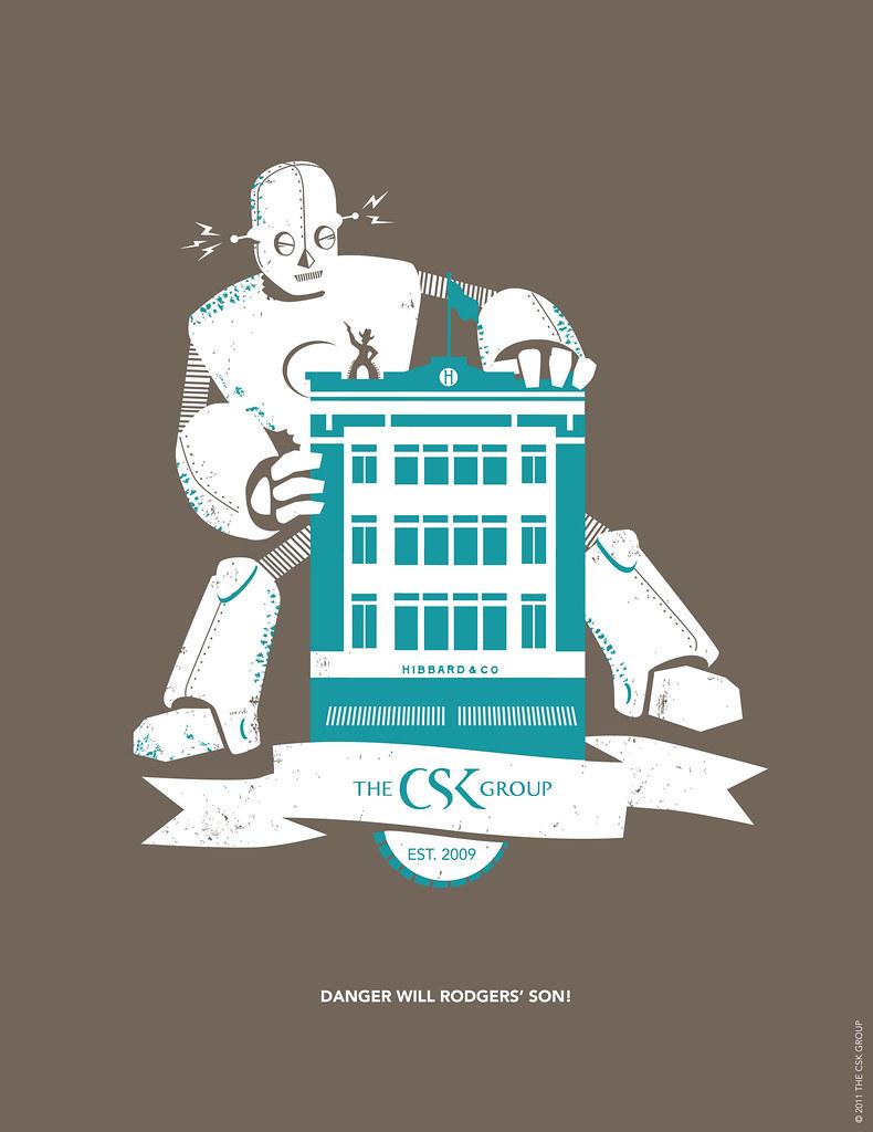 Robot Attack: Company T-shirt