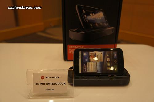 HD Multimedia Dock for Motorola Atrix, selling at RM439 in Malaysia.