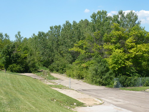 Looking northeast toward the point where 22nd Street, which once ran through the site, now ends.