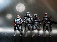 Enforcers (captchaos) Tags: starwars troopers actionfigures clones figures clonetroopers strormtroopers
