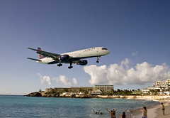 Landing at Princess Juliana Airport, St Maarte...