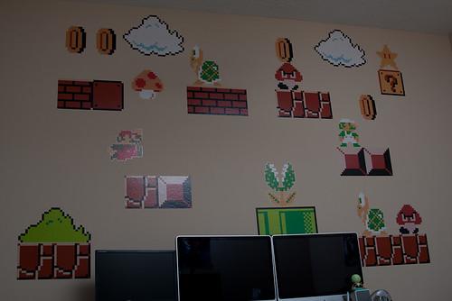 super mario bros. office decorations - wide