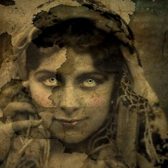 Re-Worked Vintage Image (collage a day) Tags: woman art collage mixedmedia alteredart vintagephoto alteredphoto vintageimage
