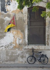 Bicycle and Flag