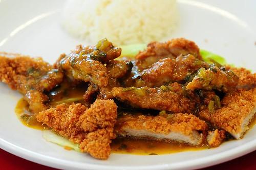 Portuguese Style Pork Chop with Rice @ Chuen Chuen