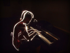 Ghost performer (maistora) Tags: maistora music piano play performer art artist lightpainting ghost dark light vasco jazz keyboard keys pianist hands abigfave explore explored18jan09 anawesomeshot amazingamateur publishedontumblrbyjpg flickrsfav100 dwcfflightpaint truthandillusion