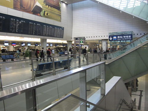 Kowloon Station in Hong Kong is a rail station, shopping mall, and residential development with an airline check-in counter so you can check your bags before boarding the train to the airport.