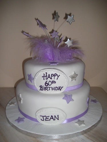 Two Tier Lilac Birthday Cake