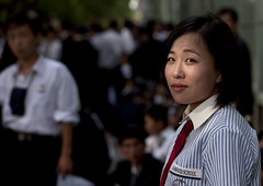 A rare complicity with North Korean people in Pyongyang (Eric Lafforgue) Tags: pictures travel woman girl smile asian photo women war asia picture korea kimjongil asie coree journalist journalists northkorea pyongyang  dprk coreadelnorte juche kimilsung nordkorea 9826 lafforgue  ericlafforgue   coredunord coreadelnord  northcorea coreedunord rdpc  insidenorthkorea  rpdc   coriadonorte  kimjongun coreiadonorte