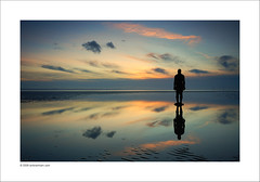 Taking the Rorschach Test. (Ian Bramham) Tags: sunset beach landscape photography photo nikon fineart rorschach explore inkblot crosby antonygormley merseyside anotherplace d40 ianbramham welcomeuk