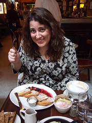 me at balthazar in soho (alist) Tags: nyc soho waffles balthazar alicerobison